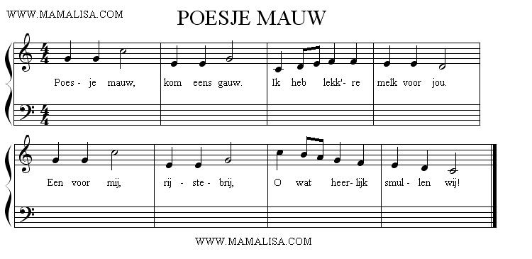 Sheet Music - Poesjemauw