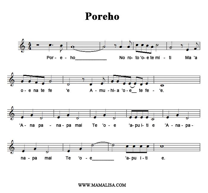 Sheet Music - Poreho