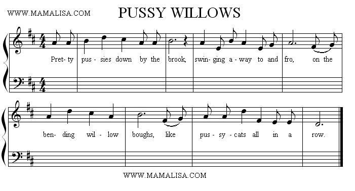 Partitura - Pussy Willows