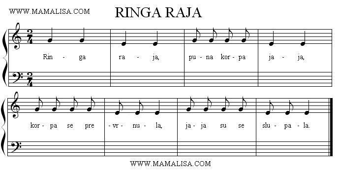 Sheet Music - Ringa raja