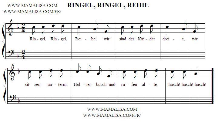 Sheet Music - Ringel-Ringel-Reihe