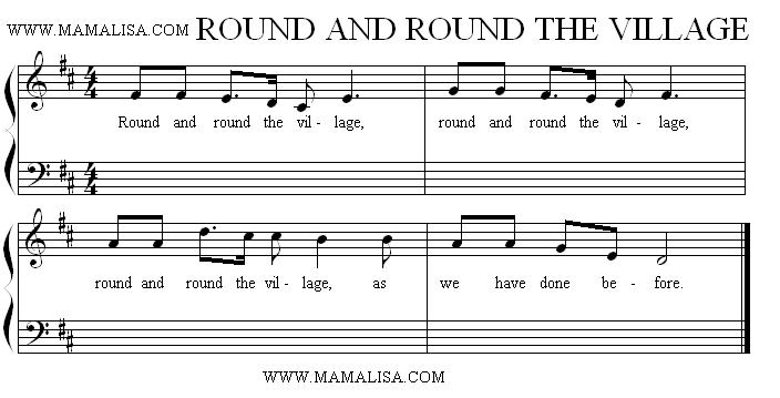 Partitura - Round and Round the Village