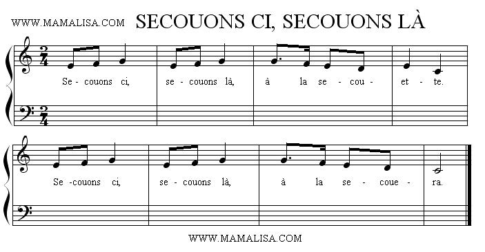 Sheet Music - Secouons ci, secouons là