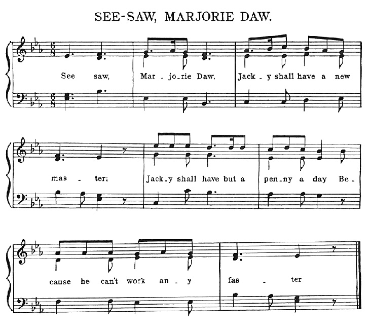Sheet Music - See-Saw, Margery Daw