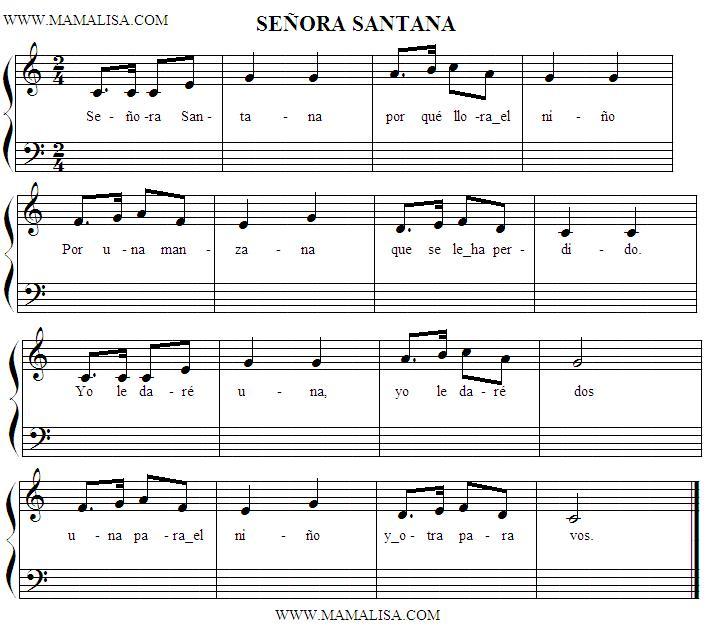 Partitura - Señora Santana