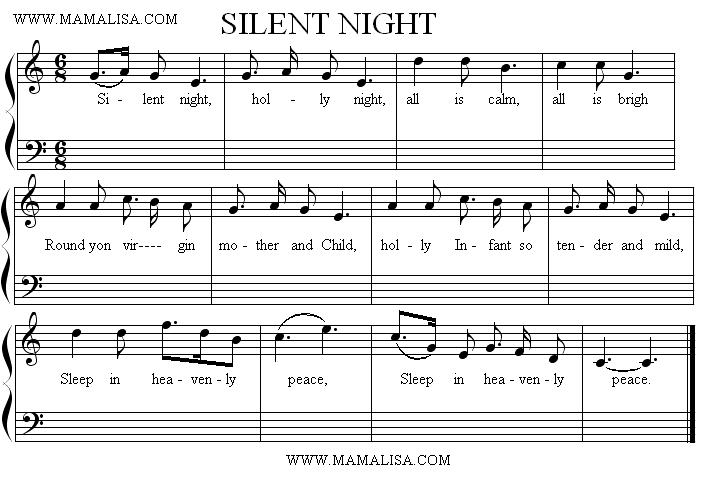Partition musicale - Silent Night
