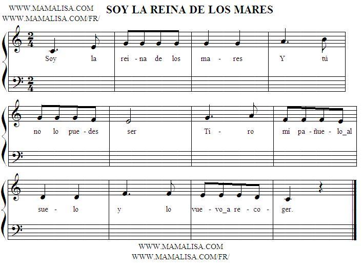 Sheet Music - Soy la reina de los mares