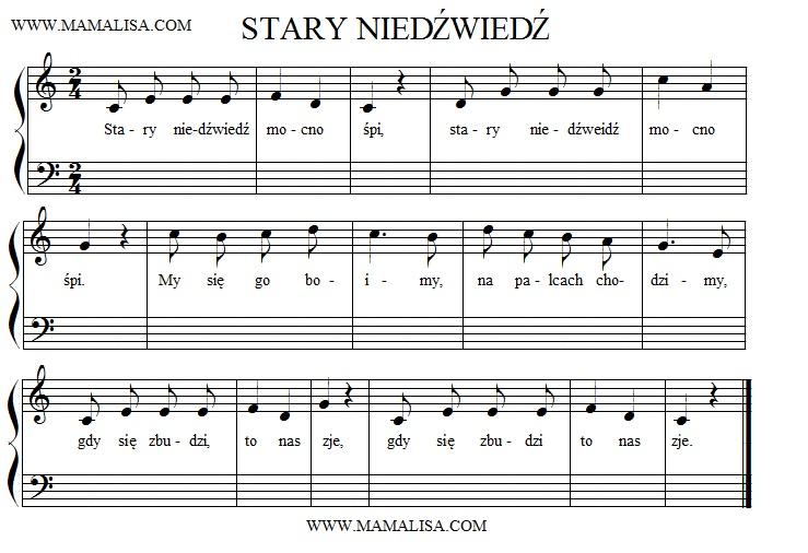 Sheet Music - Stary niedźwiedź