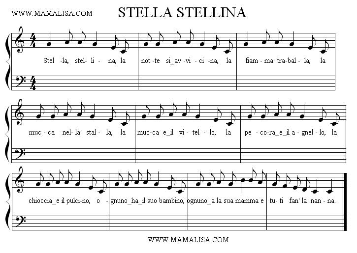 Sheet Music - Stella, stellina