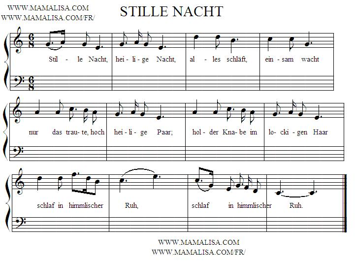 Sheet Music - Stille Nacht