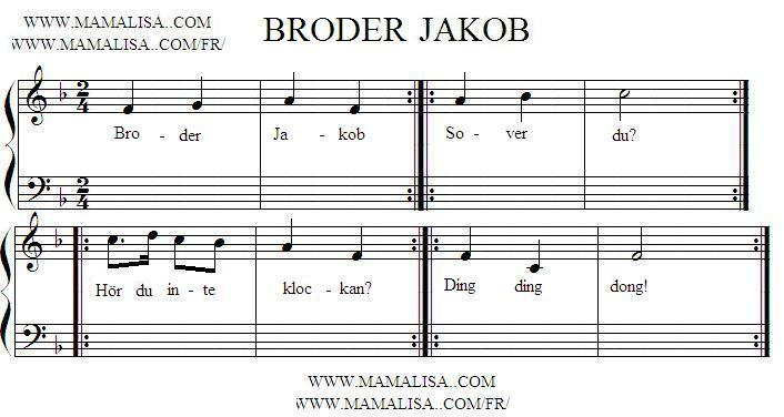 Sheet Music - Broder Jakob