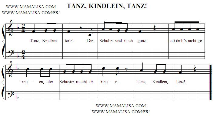 Sheet Music - Tanz, Kindlein, tanz