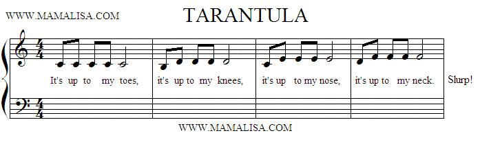 Sheet Music - Tarantula