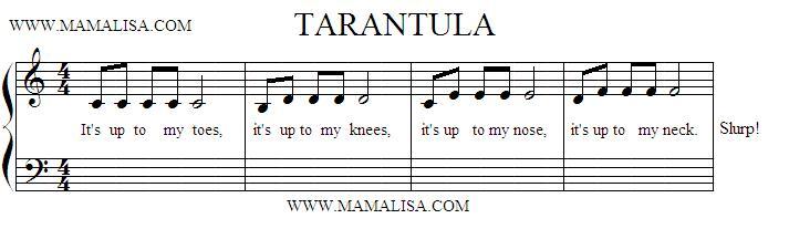 Partition musicale - Tarantula