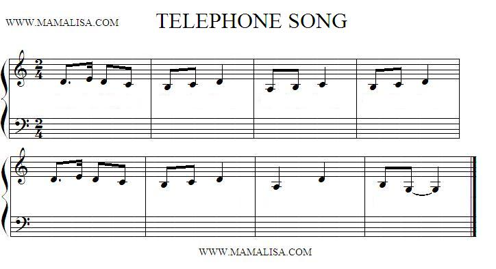 Sheet Music - Telephone Song