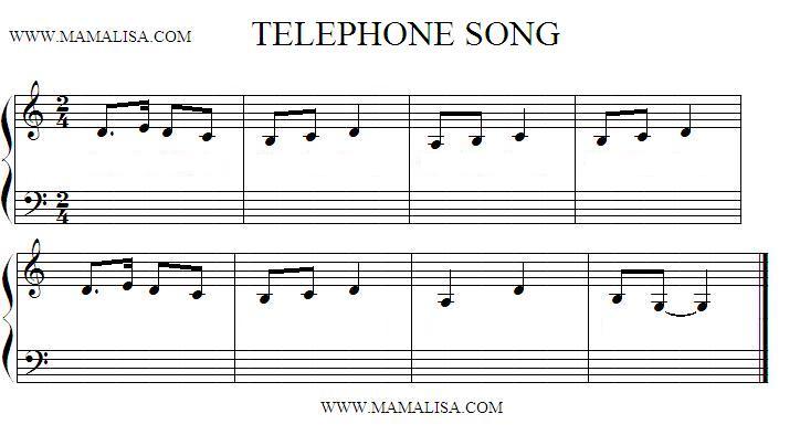 Partition musicale - Chanson du téléphone