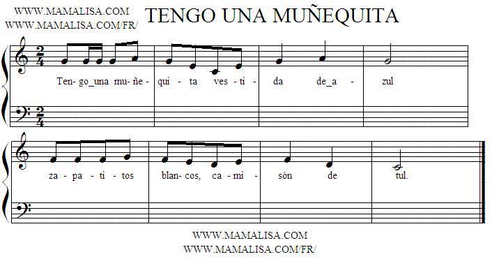 Sheet Music - Tengo una muñequita