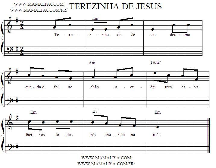 Partition musicale - Terezinha de Jesus