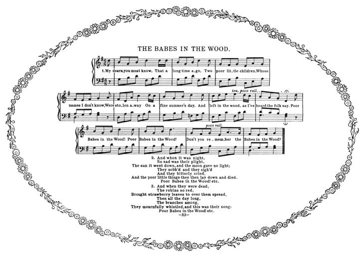 Partitura - The Babes in the Wood - (Well-known Version)