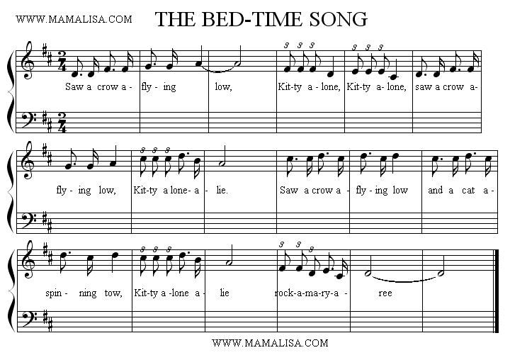 Partition musicale - The Bed-time Song
