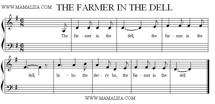 Partitura - The Farmer in the Dell