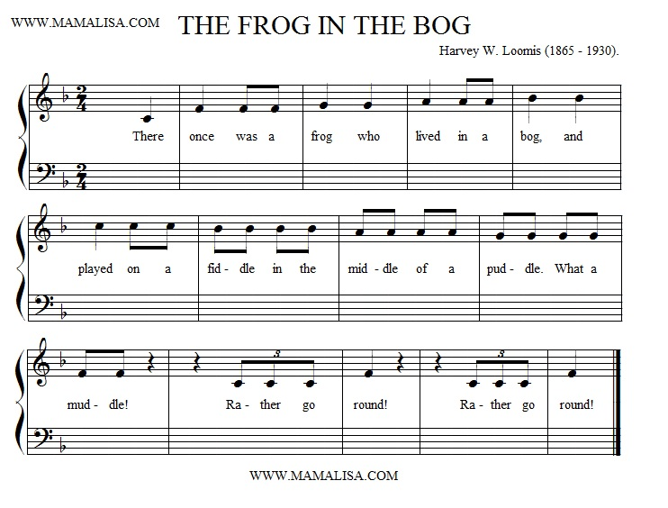Sheet Music - The Frog in the Bog