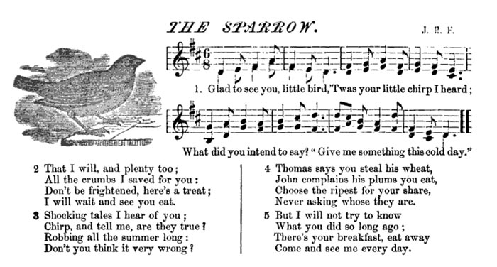 Sheet Music - Glad to See You Little Bird