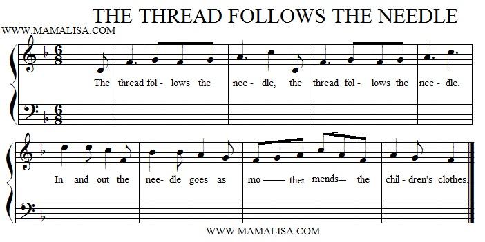 Sheet Music - The Thread Follows the Needle