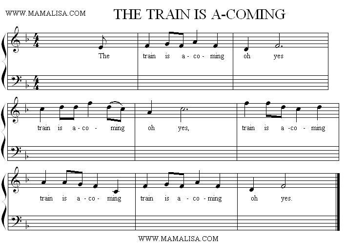 Sheet Music - Train is A Comin'