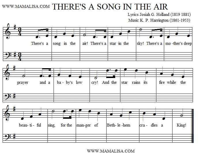 Sheet Music - There's a Song in the Air