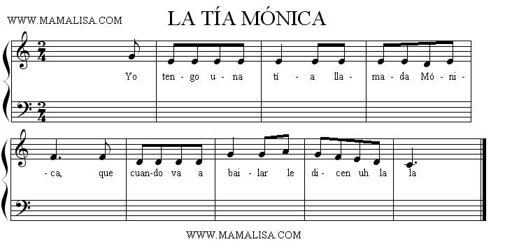 Sheet Music - La tía Mónica