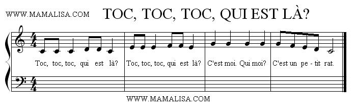 Sheet Music - Toc, toc, toc