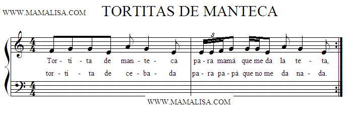 Partition musicale - Tortitas de manteca