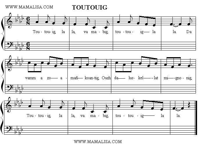 Partitura - Toutouig