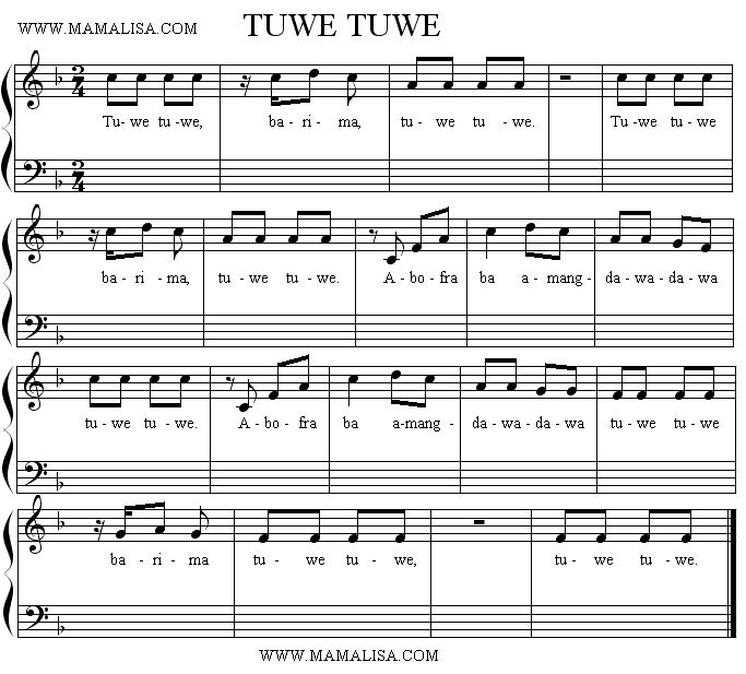 Capotastomusic Free Sheet Music Scores Love This Blog: Ghanaian Children's Songs