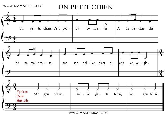 Sheet Music - Un petit chien