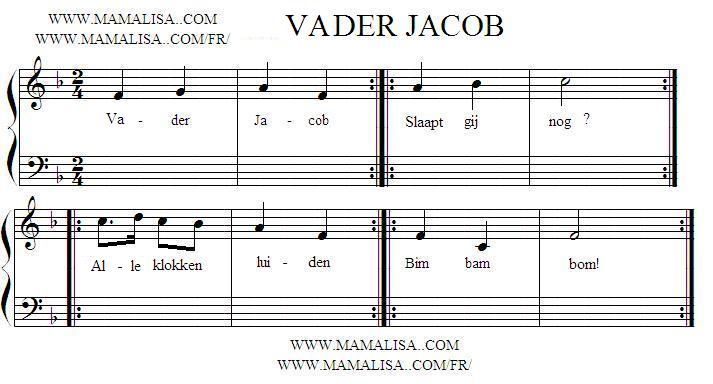 Partition musicale - Vader Jacob 2