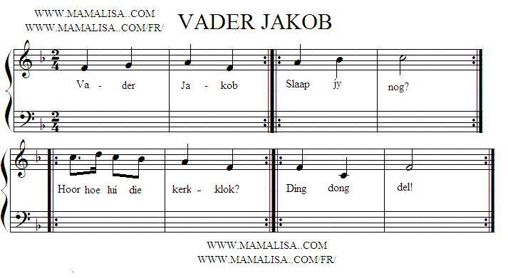 Sheet Music - Vader Jakob
