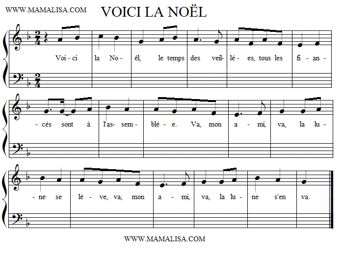 Sheet Music - Voici la Noël