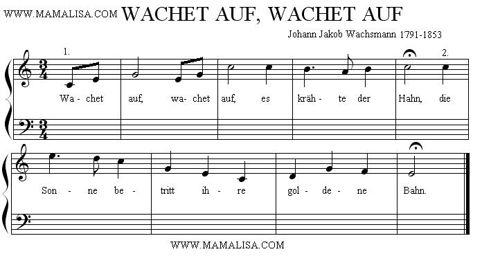 Sheet Music - Wachet auf, wachet auf