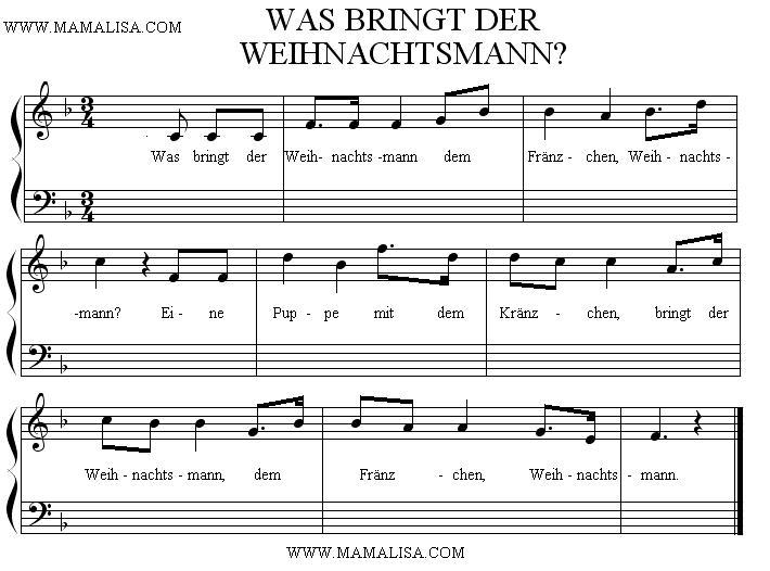 Partition musicale - Was bringt der Weihnachtsmann
