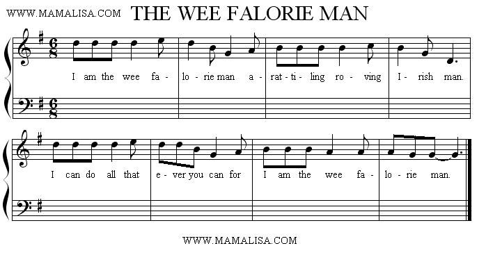Sheet Music - I am the Wee Falorie Man