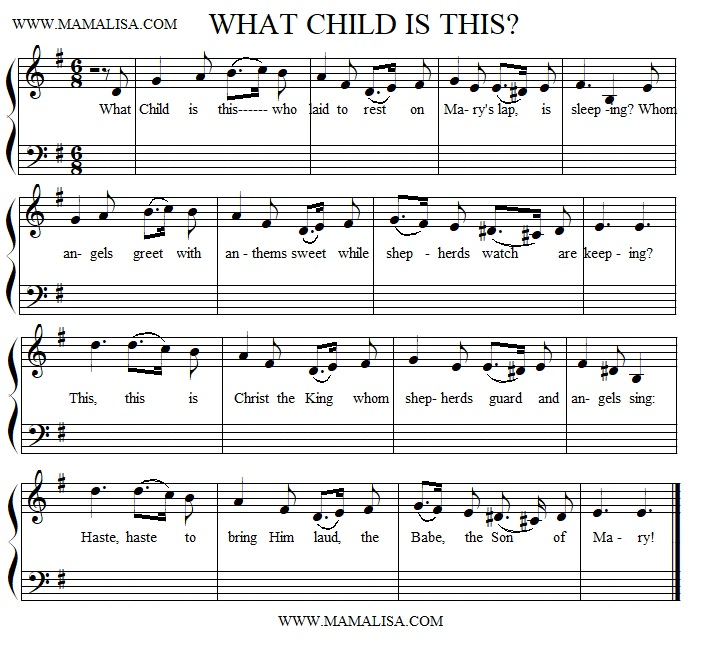 Partition musicale - What Child is This?