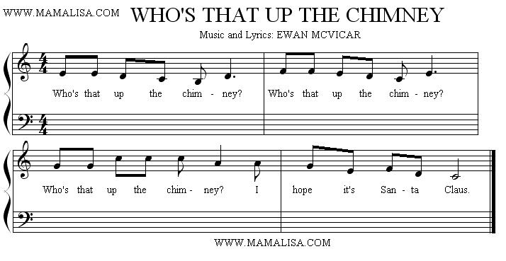Sheet Music - Who's That Up the Chimney