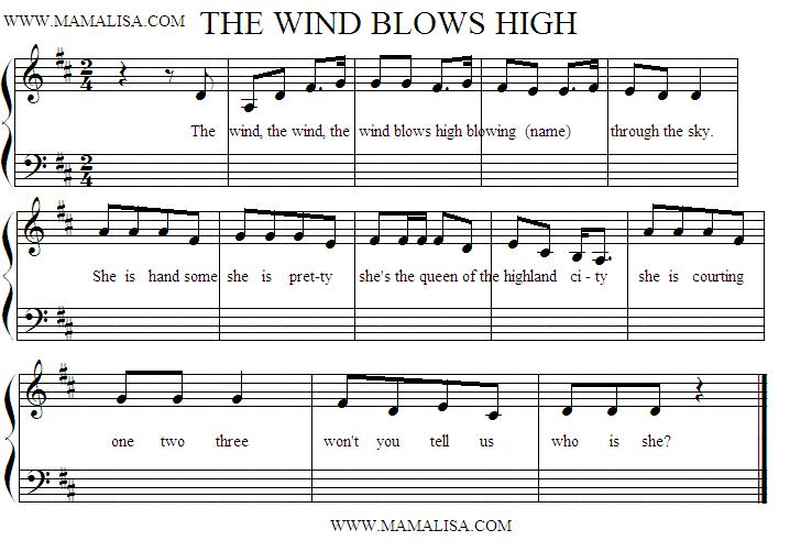 Partitura - The Wind Blows High