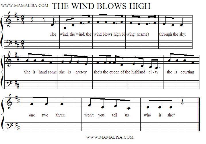 Sheet Music - The Wind Blows High