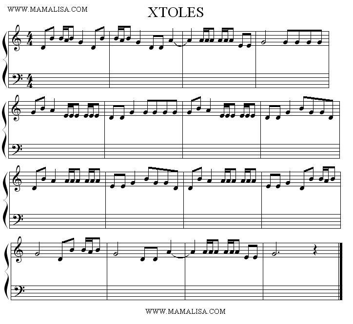 Sheet Music - Xtoles