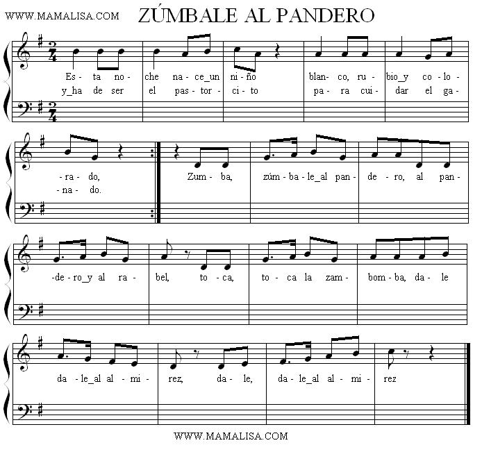 Sheet Music - Zúmbale al pandero